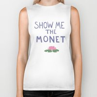 monet Biker Tanks featuring Show me the Monet!  by icarusdrunk