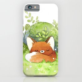 Little fox sleeping iPhone Case