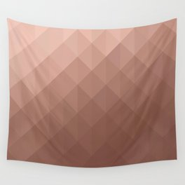 Rose Gold Geometry Wall Tapestry