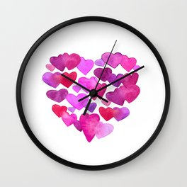Valentine Day  romantic hearts Wall Clock