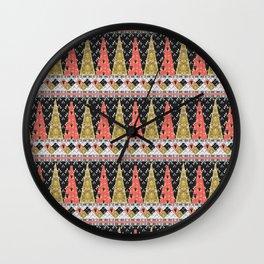 Boho Pattern 2 Wall Clock