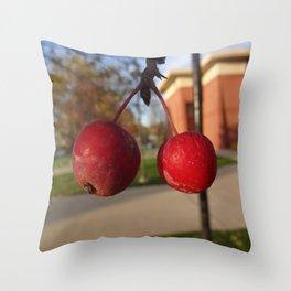 Cranberries Close Up Throw Pillow