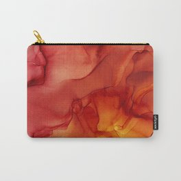 Red Sunset Abstract Ink Painting Red Orange Yellow Flame Carry-All Pouch