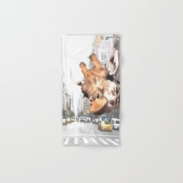 Selfie Giraffe in New York Hand & Bath Towel