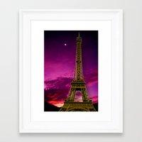 eiffel tower Framed Art Prints featuring Eiffel Tower  by Elena Indolfi