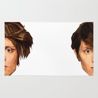tegan and sara Area & Throw Rugs featuring TEGAN AND SARA by MGNFQ