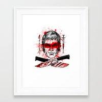 dexter Framed Art Prints featuring Dexter by Jonah Makes Artstuff