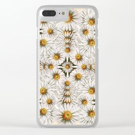 Daisy Chain Pattern Clear iPhone Case