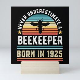 Beekeeper born 1925 100th Birthday Gift Beekeeping Mini Art Print