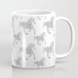 White Horse Pattern Coffee Mug