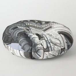 Top of the Iron Floor Pillow