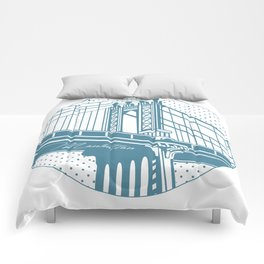 Manhattan Bridge Comforters