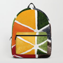 Bright Triangle Watercolor Backpack