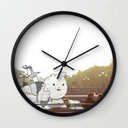 Imaginary Friend by Kale Atterberry Wall Clock