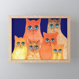 Annapolis Whimsical Cats Framed Mini Art Print