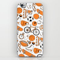 sports iPhone & iPod Skins featuring SPORTS by Shoreside