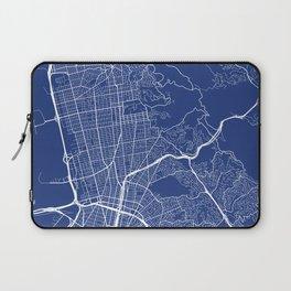 Berkeley Map, USA - Blue Laptop Sleeve