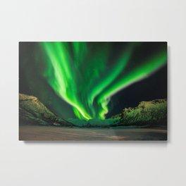 Beauty of Northern Lights Metal Print