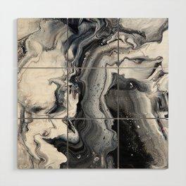 Marble B/W/G Wood Wall Art