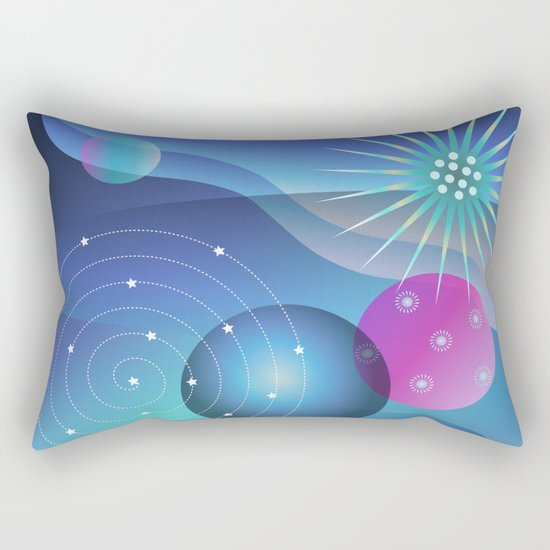 Planetary Party Rectangular Pillow