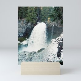 Frozen Winter Waterfall on Film - Sahalie Falls, Oregon Mini Art Print