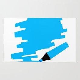 Blue Marker Copy Space Rug