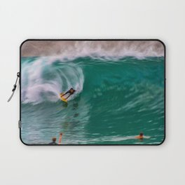 Backside Surfing at the Wedge Laptop Sleeve