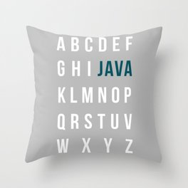 JAVA-lphabet Throw Pillow