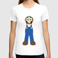 luigi T-shirts featuring Luigi - Minimalist - Nintendo by Adrian Mentus