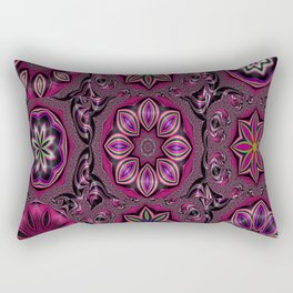 Strawberry Watermelon Flower Bliss Collection Rectangular Pillow
