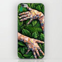 Hands Through Leaves - Brandie Lee - Geometric Shapes - Digital Garden of Eden iPhone Skin