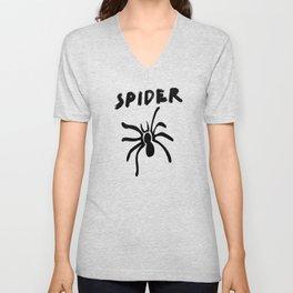 Scary Spider Halloween Unisex V-Neck