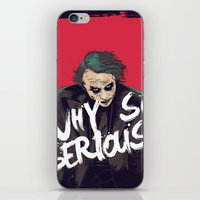 the joker iPhone & iPod Skins featuring Joker  by FourteenLab