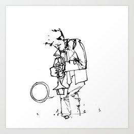 the trumpeter Art Print