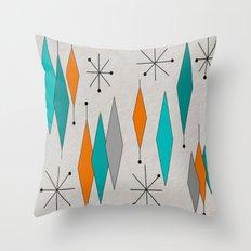 Mid-Century Modern Diamond Pattern Throw Pillow