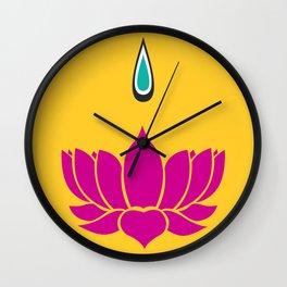Ori Lotus  Wall Clock