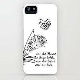 Blume und Biene iPhone Case