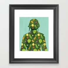 Organic Soldier Framed Art Print