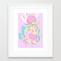 kawaii Framed Art Prints featuring kawaii! by Twisty-Arts