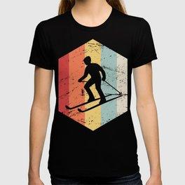Retro 70s Winter Sports Ski Icon T-shirt