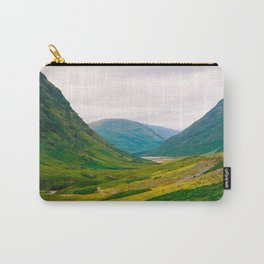 Beautiful Green Fields In A Mountain Valley Landscape Photography Carry-All Pouch