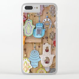 Hamsa lucky charms Clear iPhone Case