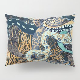 Metallic Octopus II Pillow Sham