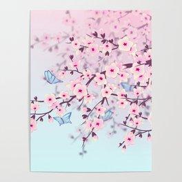 Cherry Blossom Landscape Poster