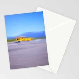 Just a Blur a classic two seater airplane Stationery Cards