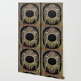 Ornate Gold Frame Book Cover Wallpaper