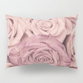 Some People Grumble - Pink Rose Pattern - Roses Pillow Sham