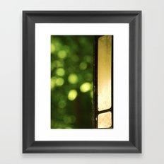 Outdoor Bokeh Framed Art Print