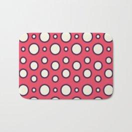 Boho Design Circles In Pink Bath Mat