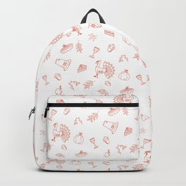 Happy Thanksgiving Day colored pattern Backpack